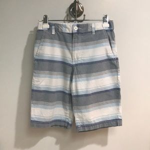 Old Navy shorts; Blue striped; YL